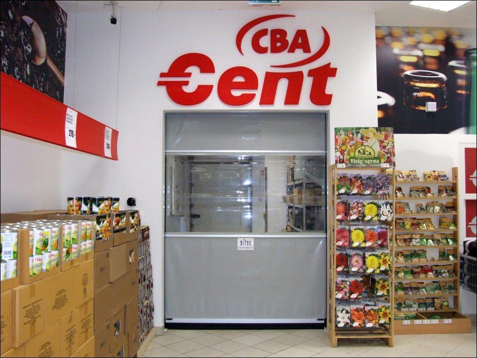 Ipari gyorskapu a Csepel Plaza-ban lévő CBA áruházban